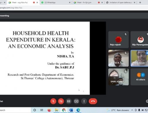 Ph D. Open Defence and Viva Voce of Ms. Nisha. T. A