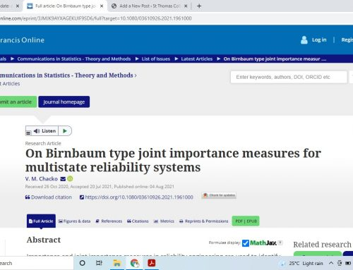 On Birnbaum type joint importance measures for multistate reliability systems, August 2021