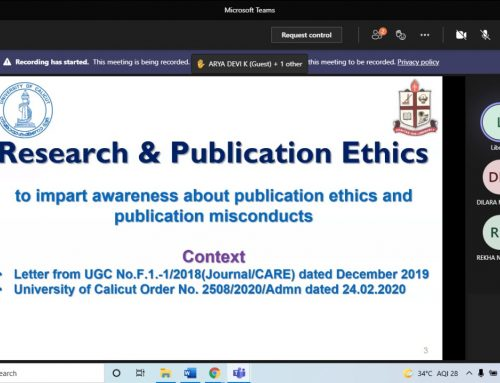 Online course on Research and Publication Ethics Course